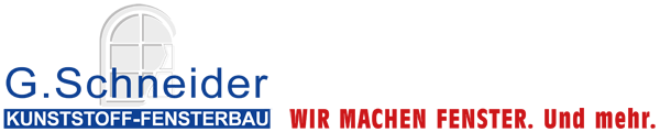 G. Schneider GmbH – Wir machen Fenster – Willkommen Logo